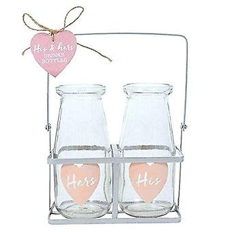Something Different His & Hers Glass Bottle Set