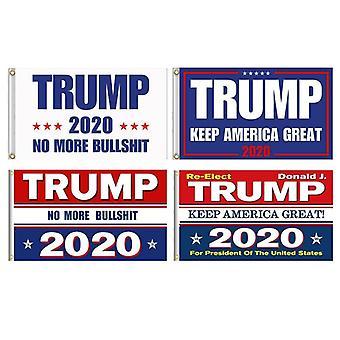 Bandera impresa de doble cara del presidente de Ee.UU. - Donald Trump Flag