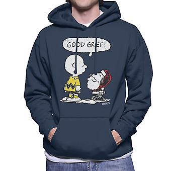 Peanuts Christmas Good Grief Santa Snoopy Men-apos;s Sweatshirt à capuchon