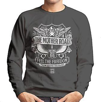 Route 66 Mother Road Crest Men's Sweatshirt