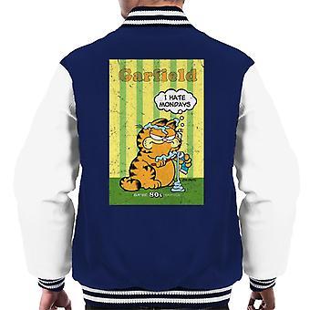 Garfield Grumpy jag hatar måndagar tandkräm överallt män ' s Varsity jacka
