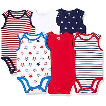 Essentials Baby 6-Pack Sleeveless Bodysuits