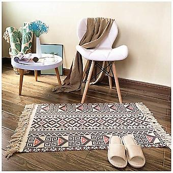 Cotton Tassel Home Weave Carpets - Welcome Foot Pad Bedroom Study Room Floor Rugs Prayer Mattress