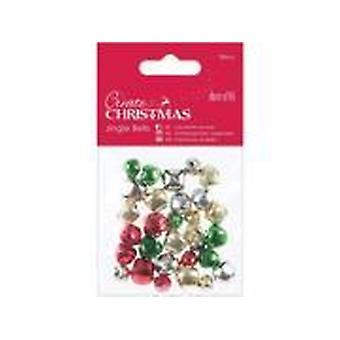 Papermania Christmas Jingle Bells (30pcs) Assorted Colours