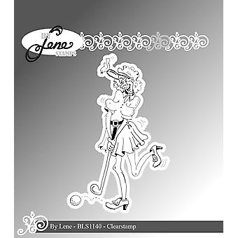 By Lene Funny Golf Player 2 Clear Stamps