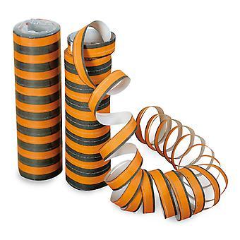 Serpentins noir/orange déco de spirales fête Halloween