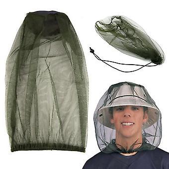 Chapeau extérieur de filet de tête de moustique - insecte de midge de chapeau de pêche, pêche, bogue, visage