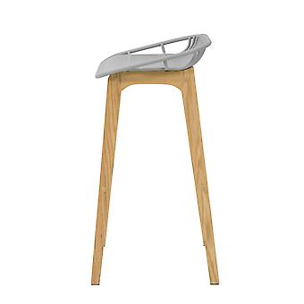 SoBuy FST77-HG, Kitchen Breakfast Barstool, Bar Stool con PP Seat & Oak Wood Legs