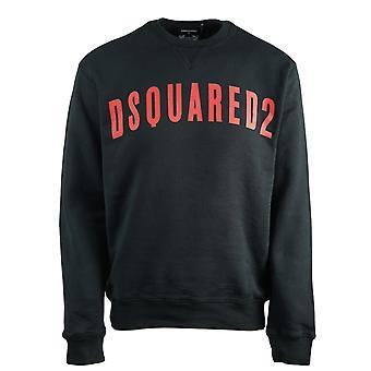 Dsquared2 suuri logo cool fit musta collegepaita