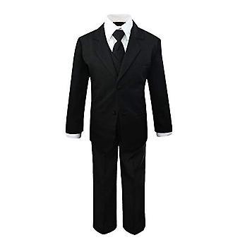 Luca Gabriel Toddler Boys' 5 Piece Classic Fit No Tail Formal Black Dress Sui...