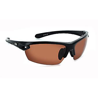 Optic nerve voodoo - golf - silver / copper lens interchangeable wrap sunglasses