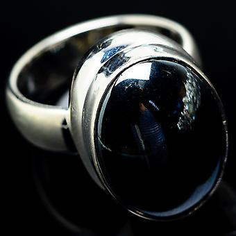 Hematite 925 Sterling Silver Ring Size 5  - Handmade Boho Vintage Jewelry RING19840