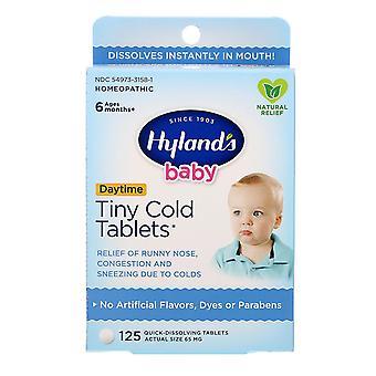 Hyland's, Baby, Tiny Cold Tablets, Overdag, Leeftijden 6 Maanden +, 125 Quick-Dissolvin