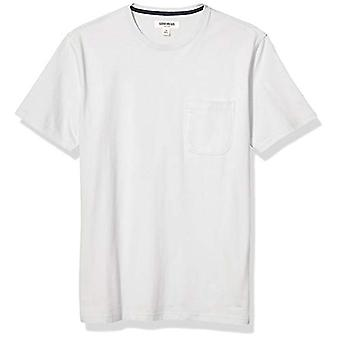 Brand - Goodthreads Men's Short-Sleeve Sueded Jersey Crewneck Pocket T-Shirt, Light Grey Medium