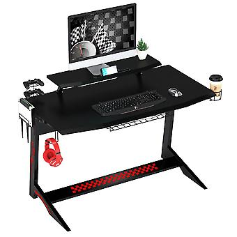 Carbon Fibre Effect Computer and Gaming Desk for Home Office - Piranha Chinook