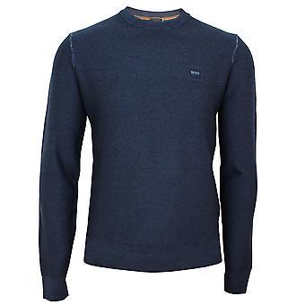 Hugo boss men's blue anitoba wool jumper