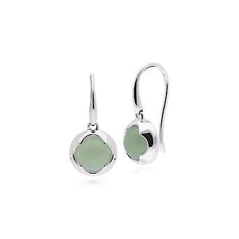 Geometric Sugarloaf Jade Circular Prism Drop Earrings in 925 Sterling Silver 270E023303925