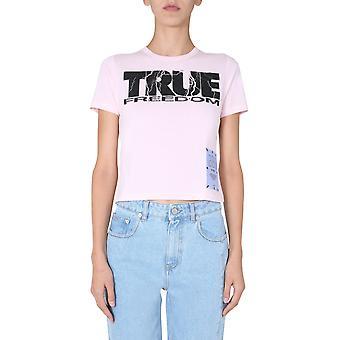 Mcq Door Alexander Mcqueen 624597rpj385729 Women's Pink Cotton T-shirt