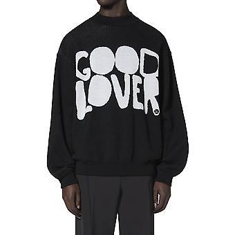 Valentino Uv0kc12i6vb0na Männer's schwarze Wolle Sweatshirt