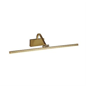 Integrated LED 1 Light Picture Wall Light Brushed Gold