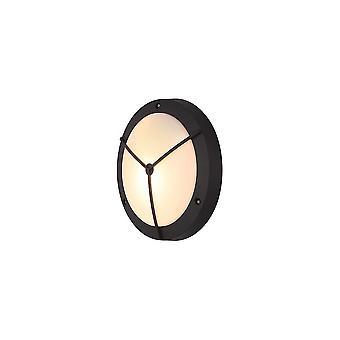Lampada a parete con parati incorniciata, 1 light E27, Antracite, IP54
