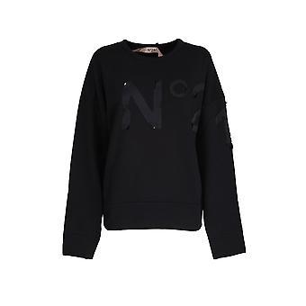 N°21 E03163139000 Femmes's Sweatshirt en coton noir
