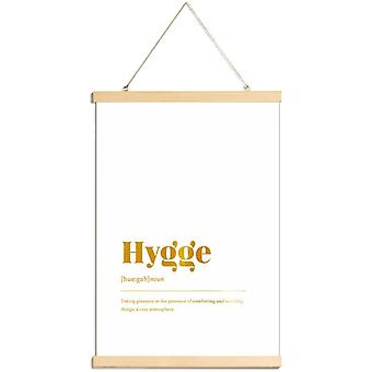 JUNIQE Print - Gold Hygge - Motivatie poster in goud en wit