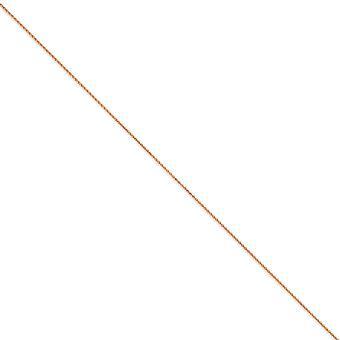 14 k Rose Gold solid 1mm Spiga Kette Hummer Kralle Schmuck Geschenke für Frauen - Länge: 7 bis 24