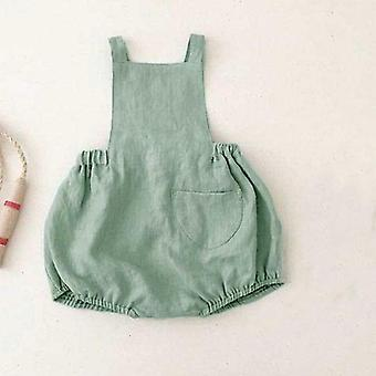 Girls Overalls, Light Green, Cotton Beautiful Bloomers