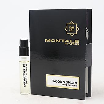 Wood & Spice by Montale Paris Eau De Parfum Vial 0.07oz/2ml Spray New