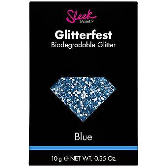 Sleek MakeUP Glitterfest - Biodegradable Glitter - Blue 10g (1214)