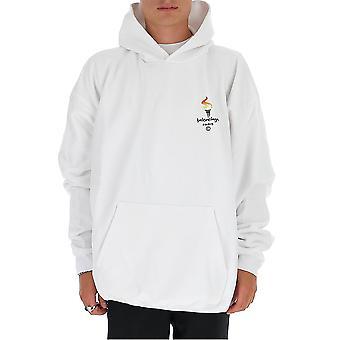 Balenciaga 620973tiv459040 Män's Vit Bomull Sweatshirt