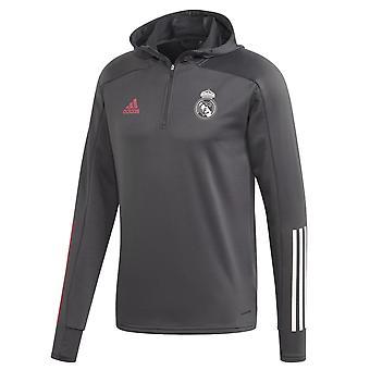 2020-2021 Real Madrid Spår Hoody (Grå)