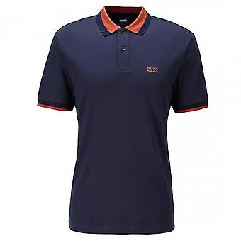 Boss Green Hugo Boss Parlay 88 Short Sleeve Polo Navy 50436314
