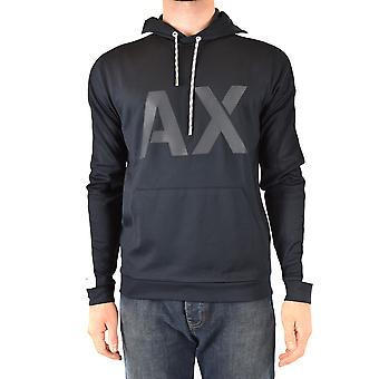 Armani Exchange Ezbc039166 Men's Blue Polyester Sweatshirt