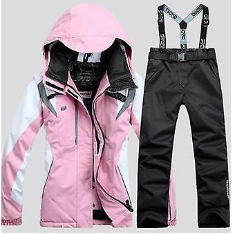 Ski Suit Kvinnor's Snowboard jacka + skidbyxor, Vinter Utomhus Thermal Jacket