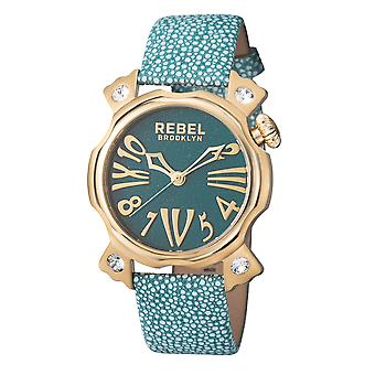 Rebel Women's Coney Island Teal Dial Leather Watch