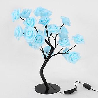 Rose Flower Tree Table Lamp Decorative Light For Living Room, Bedroom