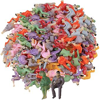 500PCS Model Seated People Passengers 1:100 Multicolor