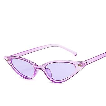 Women Sexy Retro Small Cat Eye Sun Glasses