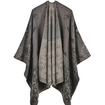 Women's Autumn And Winter Large Size Grass And Wood Khaki Warm Scarf Blanket Shawl
