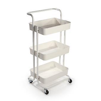 Chariot de stockage à 3 niveaux   M&W Blanc