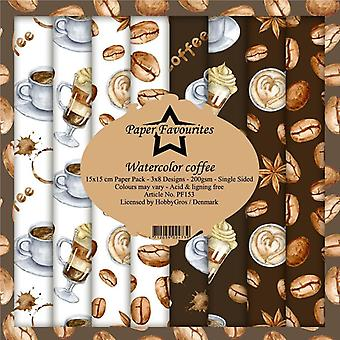 Paper Favourites Watercolor Coffee 6x6 Inch Paper Pack