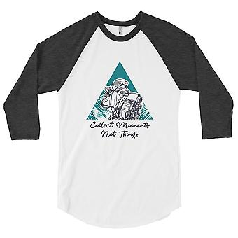 Collect Moments not Things - Raglan shirt with 3/4 sleeve, men