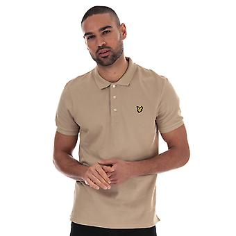 Men's Lyle And Scott Plain Polo Shirt in Brown