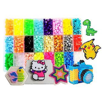 Fusibili perline kit-4500pcs 5mm 24colors(4 glow in dark) pegboard 75 motivi (15 full size) pape da stiro