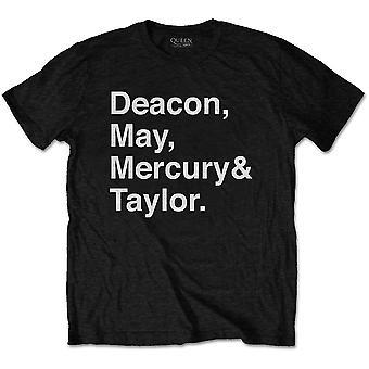 Queen Helvetica Band Official Tee T-Shirt Mens Unisex
