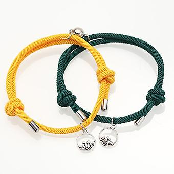 Attract Couples Bracelets, Rope Weaving Magnet