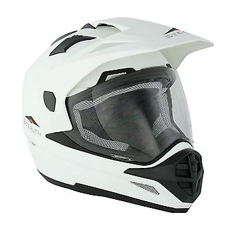 Stealth HD009 Adventure Adult Dual Sport Helmet - White