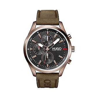 HUGO 1530162 Chase Black & Brown Leather Men's Watch
